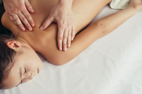 Kinder-Massage in einem Wellnesshotel
